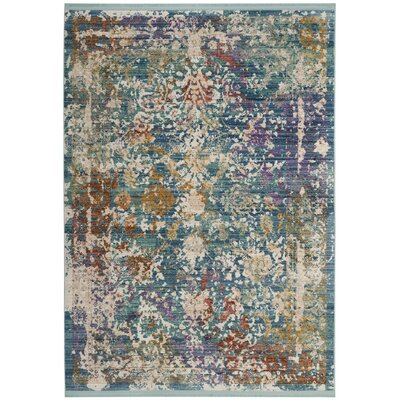 Mellie Green/Beige/Purple Area Rug Rug Size: 8 x 10