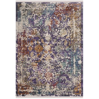 Mellie Purple/Beige Area Rug Rug Size: 8 x 10