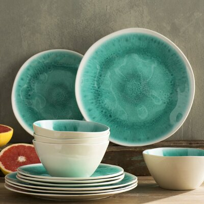 Tabitha Crackle Melamine 12 Piece Dinnerware Set