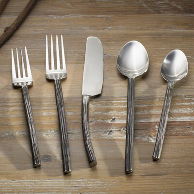 Cypress 20 Piece Flatware Set Finish: Blackened Mirror