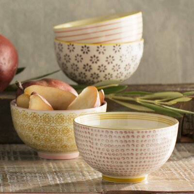 Tadi 4 Piece Round Ceramic Bowl Set