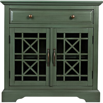 Tavera 1 Drawer 2 Door Accent Cabinet Color: Antique Jade