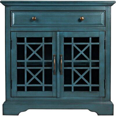 Tavera 1 Drawer 2 Door Accent Cabinet Color: Antique Blue