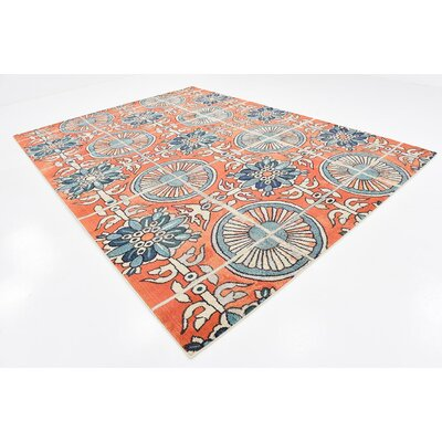 Fujii Orange Area Rug Rug Size: Rectangle 106 x 165