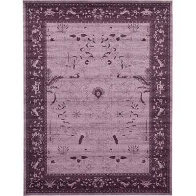 Shailene Purple Area Rug Rug Size: Rectangle 9 x 12