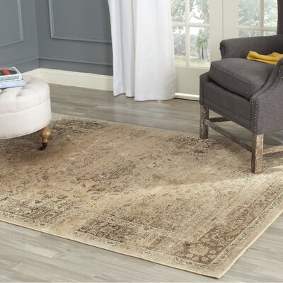 Todd Beige/Brown Area Rug Rug Size: Rectangle 53 x 76