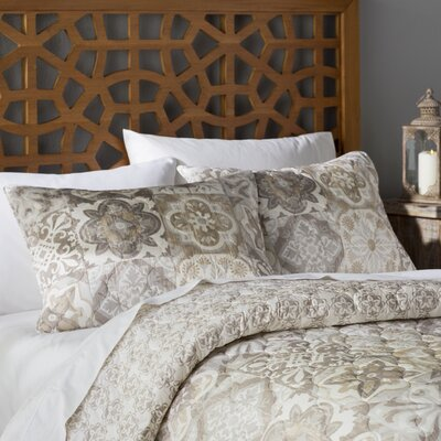 Emilianna 3 Piece Quilt Set Color: Taupe, Size: King