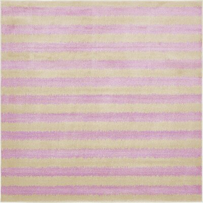 Randeep Purple/Green Area Rug Rug Size: Square 8'