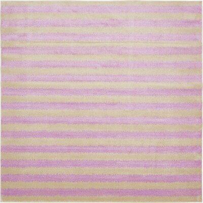 Randeep Purple/Green Area Rug Rug Size: Square 10