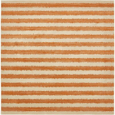 Randeep Orange/Beige Area Rug Rug Size: Square 10'