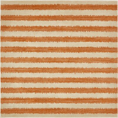 Randeep Orange/Beige Area Rug Rug Size: Square 8'