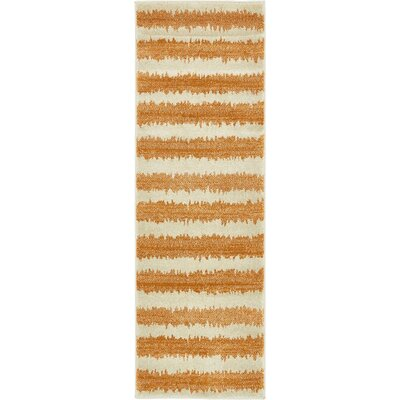 Randeep Orange/Beige Area Rug Rug Size: Runner 2' x 6'