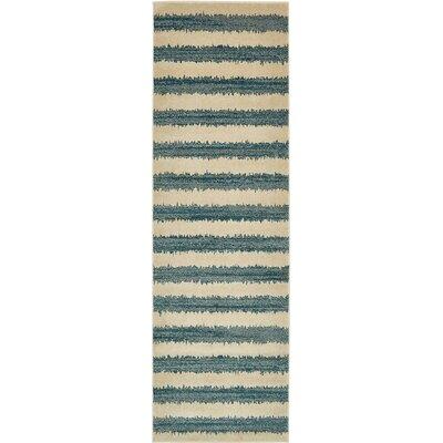 Randeep Blue/Beige Area Rug Rug Size: Runner 3 x 10