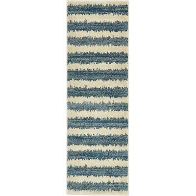 Randeep Blue/Beige Area Rug Rug Size: Runner 2' x 6'