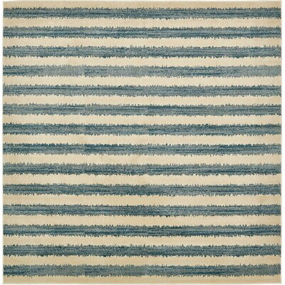 Randeep Blue/Beige Area Rug Rug Size: Square 10
