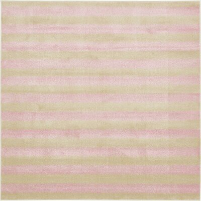 Randeep Pink/Green Area Rug Rug Size: Square 8'