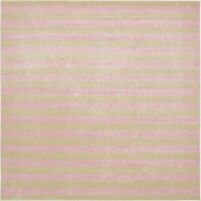Travis Pink/Green Area Rug Rug Size: Square 10