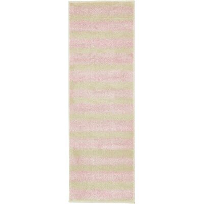 Randeep Pink/Green Area Rug Rug Size: Runner 2' x 6'