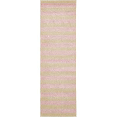 Travis Pink/Green Area Rug Rug Size: Runner 3 x 10