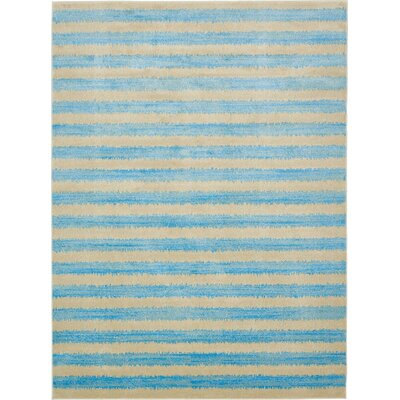 Randeep Blue/Beige Area Rug Rug Size: 9' x 12'