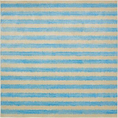 Randeep Blue/Beige Area Rug Rug Size: Square 10