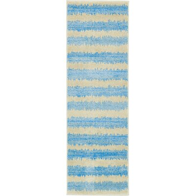 Travis Traditional Blue/Beige Area Rug Rug Size: Runner 2 x 6