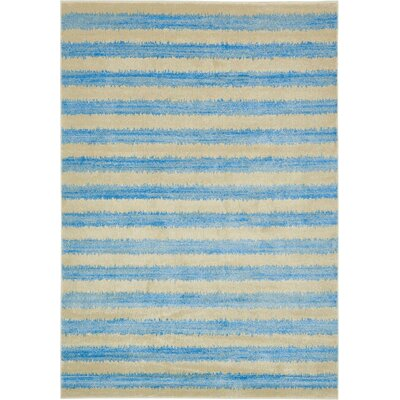 Randeep Blue/Beige Area Rug Rug Size: 7' x 10'