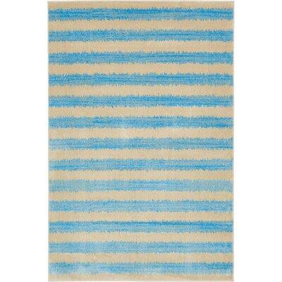 Randeep Blue/Beige Area Rug Rug Size: 6' x 9'