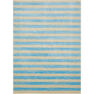 Travis Traditional Blue/Beige Area Rug Rug Size: Runner 3 x 10
