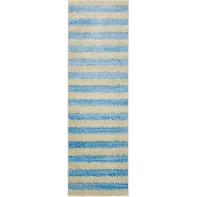 Randeep Blue/Beige Area Rug Rug Size: Runner 3' x 10'