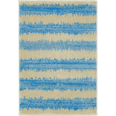 Randeep Blue/Beige Area Rug Rug Size: 2'2