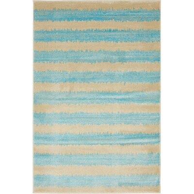 Randeep Blue/Beige Area Rug Rug Size: 4' x 6'