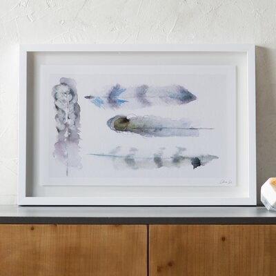 'Plumes' Framed Painting Print Size: 18