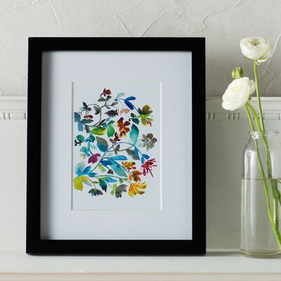 Peregrine Garden Floral Framed Graphic Art
