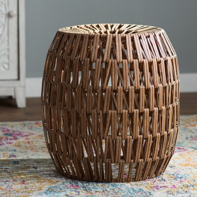 Briella Wicker Stool Finish: Brown