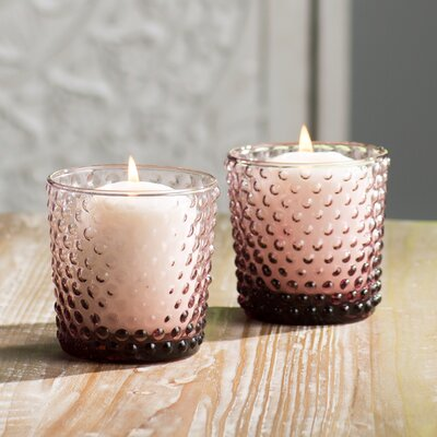 Cassandra 4 Piece Glass Votive Set Color: Plum