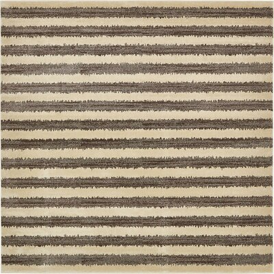 Randeep Brown/Beige Area Rug Rug Size: Square 10'