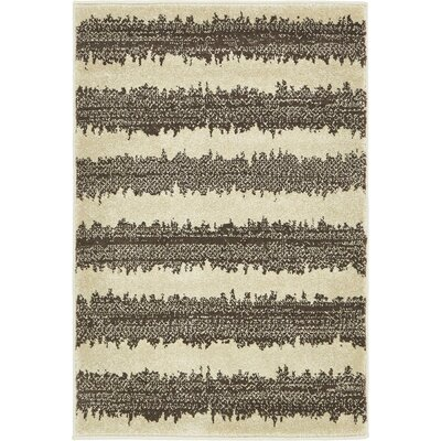Randeep Brown/Beige Area Rug Rug Size: 2'2