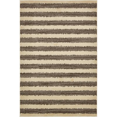 Randeep Brown/Beige Area Rug Rug Size: 6' x 9'