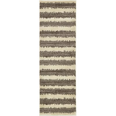 Travis Brown/Beige Area Rug Rug Size: Runner 2 x 6