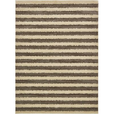Randeep Brown/Beige Area Rug Rug Size: 8 x 11