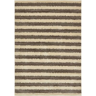 Randeep Brown/Beige Area Rug Rug Size: 7' x 10'