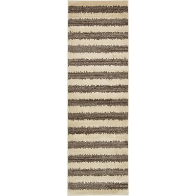 Randeep Brown/Beige Area Rug Rug Size: Runner 3' x 10'