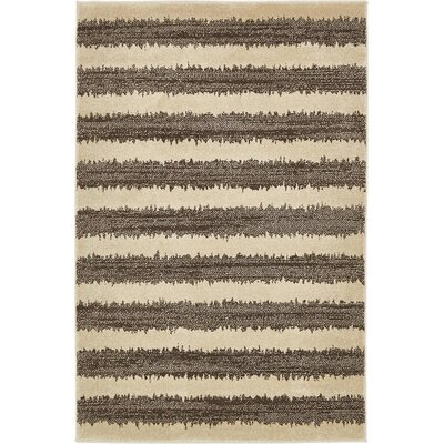 Randeep Brown/Beige Area Rug Rug Size: 4' x 6'