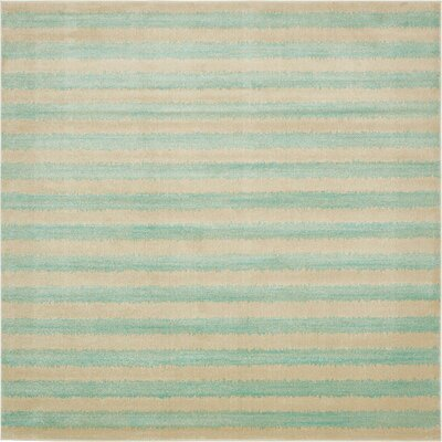 Randeep Green/Beige Area Rug Rug Size: Square 10'