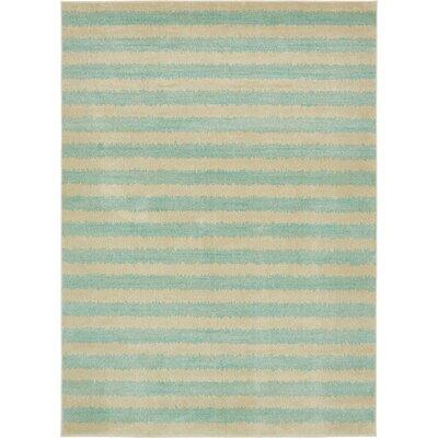 Randeep Green/Beige Area Rug Rug Size: 8' x 11'