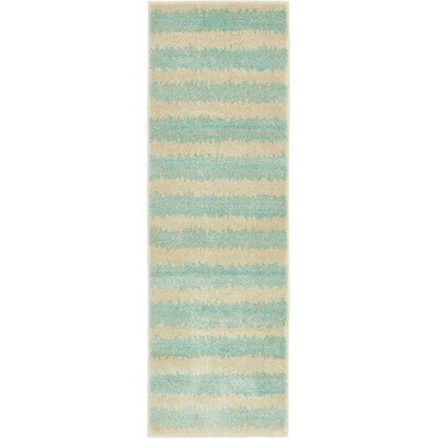 Randeep Green/Beige Area Rug Rug Size: Runner 2 x 6