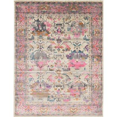 Charlena Pink Area Rug Rug Size: 9 x 12