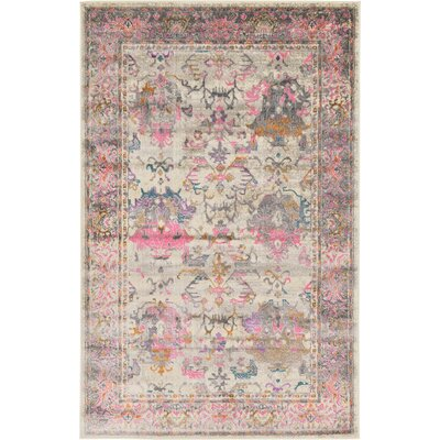 Charlena Pink Area Rug Rug Size: 5 x 8
