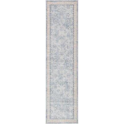 Ouellette Light Blue Area Rug Rug Size: Runner 10 x 3